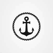 Anchor And Rope Icon Logo Desi...
