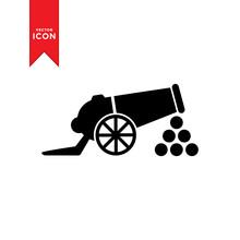 Cannon Icon Vector. Simple Des...