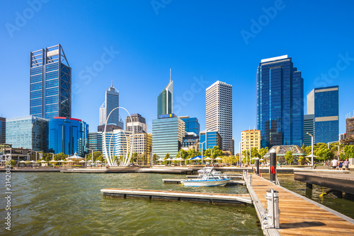 Cuadros en Lienzo skyline of perth in western australia