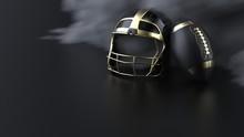 American Football Gold-black H...