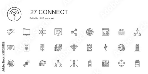 Photo connect icons set