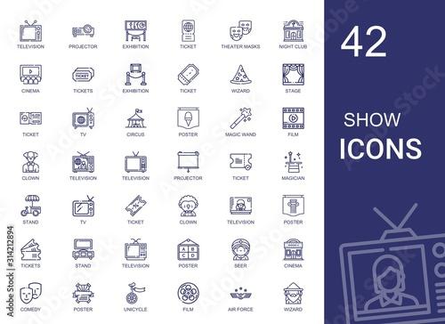 Obraz na plátně show icons set