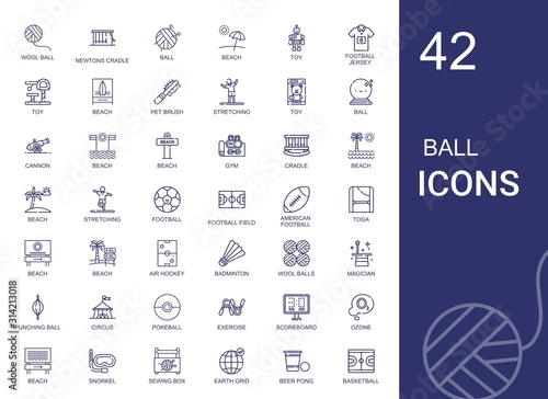 Photo  ball icons set