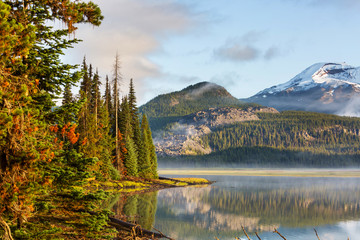 Panel Szklany Rzeki i Jeziora Lake in Oregon