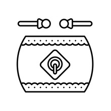 Chinese Drum Vector, Chinese N...