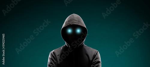 Fotomural Computer hacker in hoodie