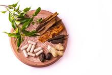 Herbal Medicine Concept. Top V...