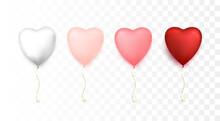 Heart Shaped Balloons. Happy V...
