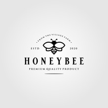 Vintage Honey Bee Logo Village...