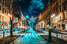 Small Stable Street.( Malaya Konyushennaya). Saint Petersburg. Russia.