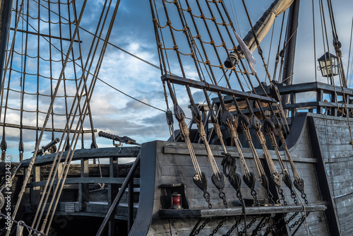 Valokuva Rigging of an old pirate ship in the port of Torrevieja, Alicante, Spain 2019