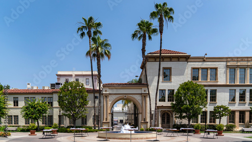 paramount pictures street panorama Canvas Print