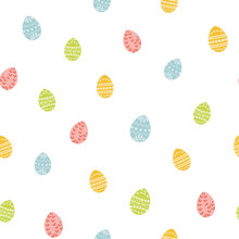 Easter Eggs Texture Seamless E...