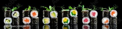 Fototapeta maki sushi set obraz