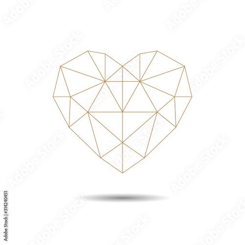 Geometric Heart Wallpaper Mural