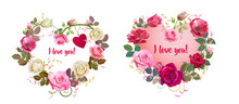 Hearts Of Flowers. Valentine's...