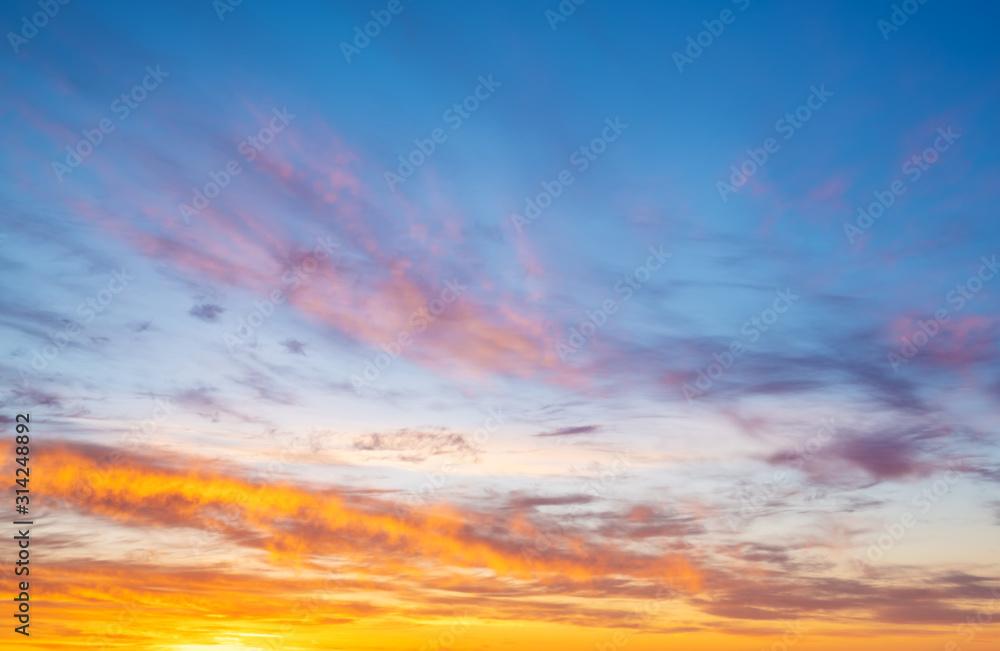 Fototapeta Sunrise and sunset