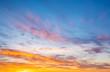 Leinwandbild Motiv Sunrise and sunset