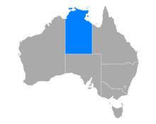 Karte Von Northern Territory I...