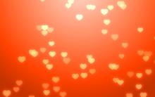 Valentine Day White Hearts On ...