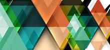 Modern Mosaic Triangle Templat...