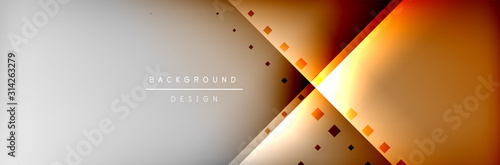 Fotografía Abstract background - squares and lines composition created with lights and shadows