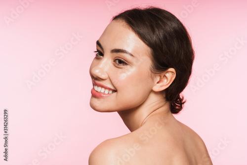 Cuadros en Lienzo  Beauty portrait of a beautiful young topless brunette woman