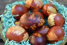 Onion Dyed Easter Eggs