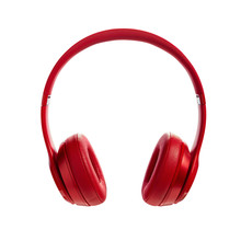 Red Wireless Headphone On Whit...