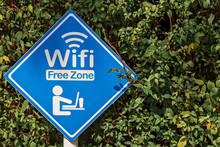 Area Sign To Use Free Wi-Fi. W...