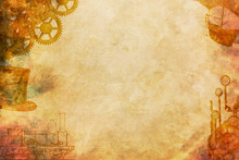Paper Background Steampunk Style