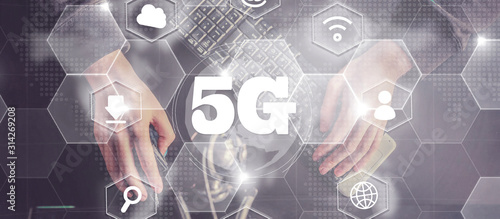 Photo  5G,Business, Technology, Internet and network concept