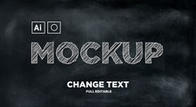 Sketch Text Effect Mockup Full Editable Text / 手绘图样机
