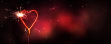 Herzförmige Wunderkerze Brenn...