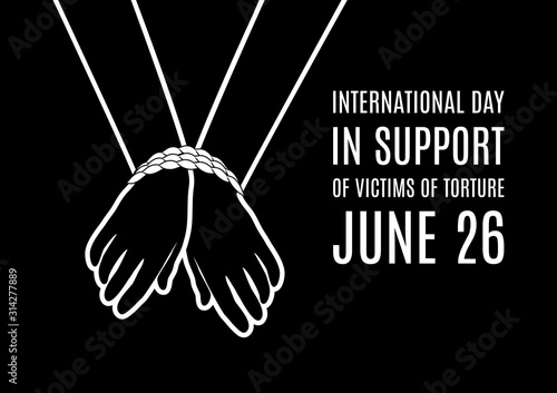Fotografia International Day in Support of Victims of Torture vector