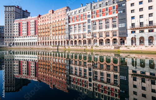 Ria de Bilbao , in the seven streets, old town, in the Basque country.