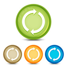 Update Icons Glassy Round Button Set