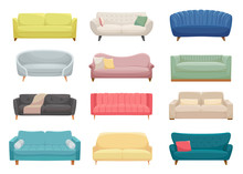 Sofas, Furniture Pieces Flat V...