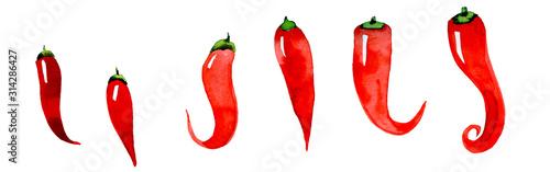chilli red pepper Wallpaper Mural