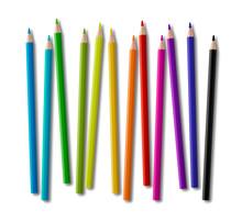 Set Of Color Wooden Pencil Col...