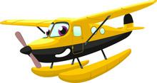 Airplane Cartoon Hydroplane