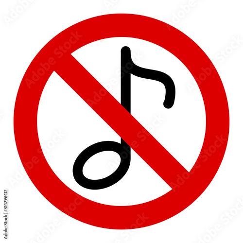 Fotografie, Obraz  No musical note vector icon