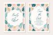 Wedding invitation template card.