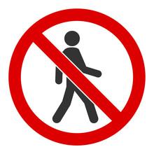 No Trespassing Vector Icon. Fl...