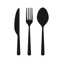 Vector Cutlery Set. Fork, Knif...