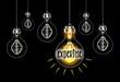 Leinwanddruck Bild - Concept d'expertise avec ampoule