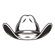 Cowboy Hat Front View Template