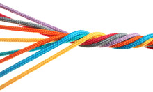Twisted Colorful Ropes Isolate...