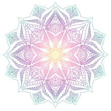Linear Ornamental Mandala Made...