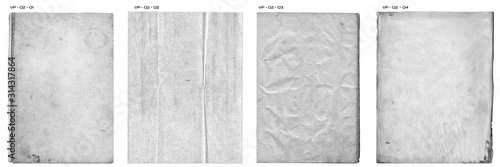 Fotografiet Creased Paper Texture Pack vintage distressed blank pages